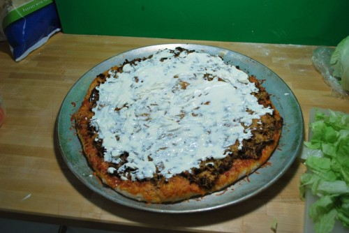 Layer with sour cream