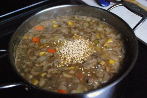 Pearl Barley - Adds a great flavor and texture to the stew.