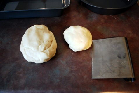 Divide the dough into thirds