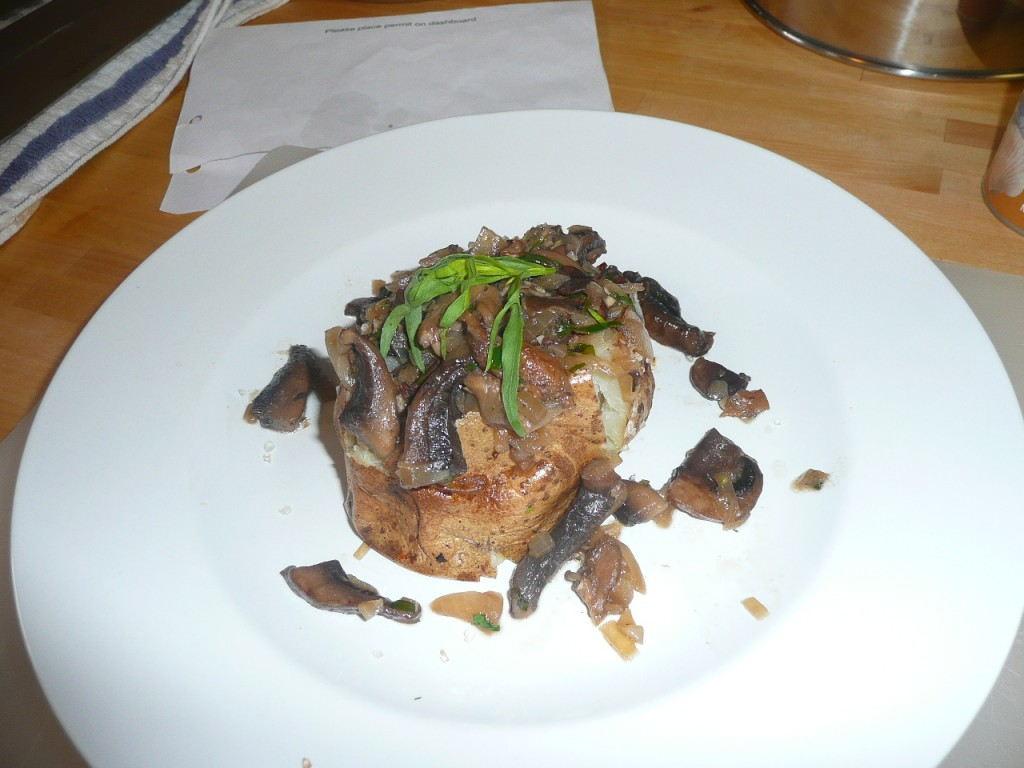 Baked Potato with Wild Musroom Ragù