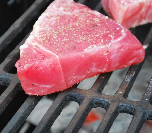 Tuna needs to be grilled on average 3.5-4 minutes per side. Make sure not to move it.