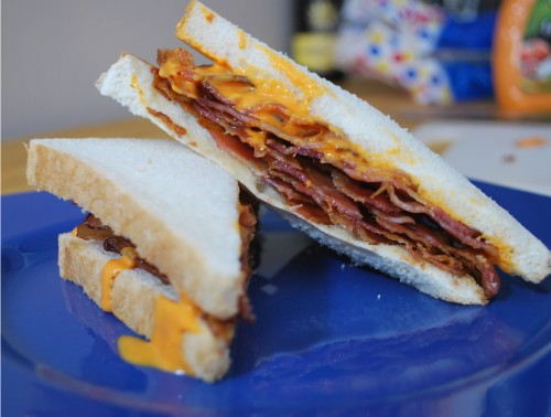 The French Bacon Sandwich - Quite spectacular looking, if you could only taste it.