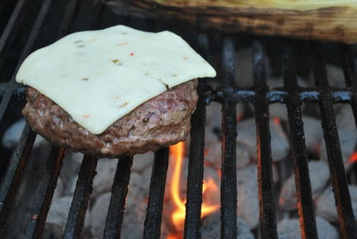 Once you add your cheese close your grill lid so that it melts evenly.