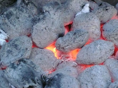 Look at the perfect coals.