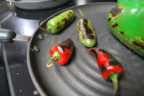 I used and indoor grill pan as it was raining outside.  You miss a bit on flavor but adding the heat to the peppers makes them taste amazing.