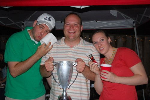 "That is me in the middle with ""Lord Rex's Cup"".  This recipe won the cup."
