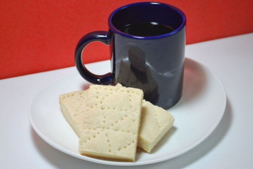Light and flakey shortbread the perfect accompaniment to coffee