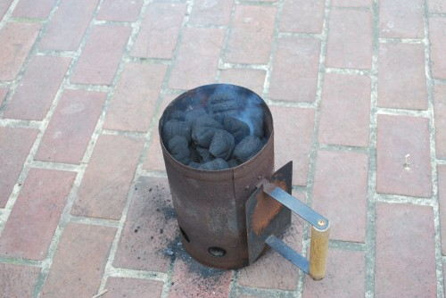 I always start my charcoal with a chimney.  No lighter fluid and the coals come out perfect every time.