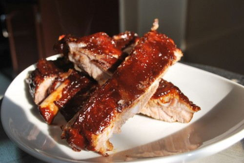 These ribs are fall off the bone tender with a nice smokey flavor.