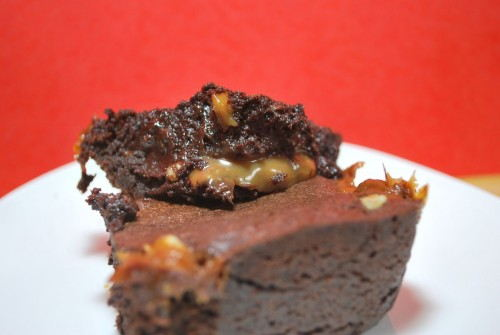 My ulimate brownies are loaded with carmel, chocolate and walnuts.