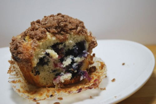 So moist and tender.  The perfect muffin.