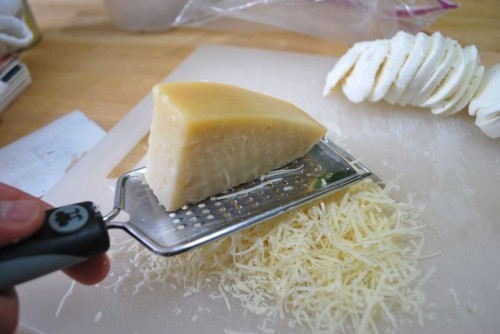 Grate the parmesen cheese