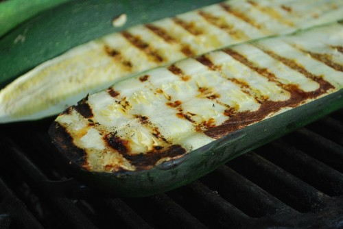The halved zucchini grills nice.