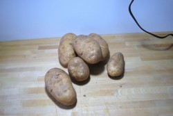 Six potatoes make enough for 4 people