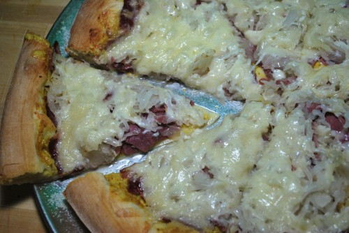 If you love reubens, you will love this pizza.