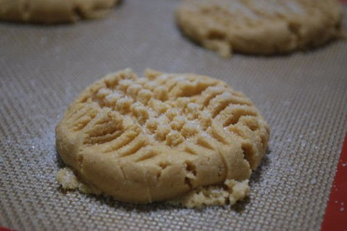 A closeup of the cookie pattern