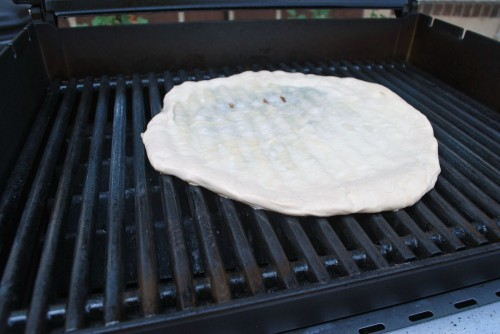 Flip the dough right out onto the grill