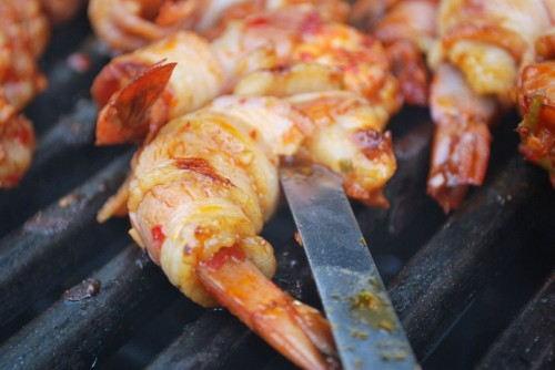 I love grillin shrimp