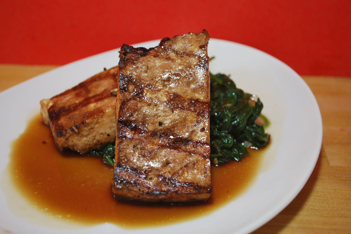 Asian Grilled Tofu with Quick Stir-Fried Greens - SavoryReviews