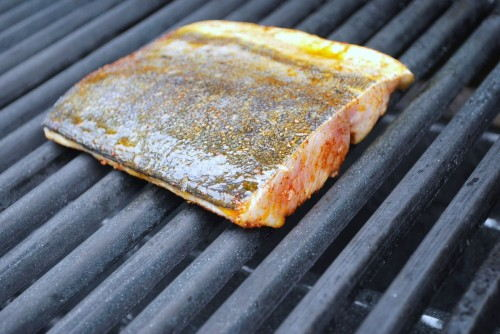 Start grilling with the skin side up