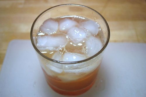 Make sure to fill with ice.  A cold drink is a great drink.