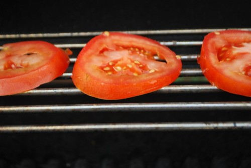 Grilled tomatoes add great flavor