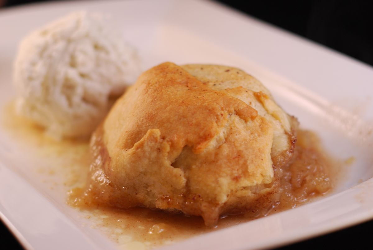 Bourbon Apple Dumplings – makes 3 dumplings