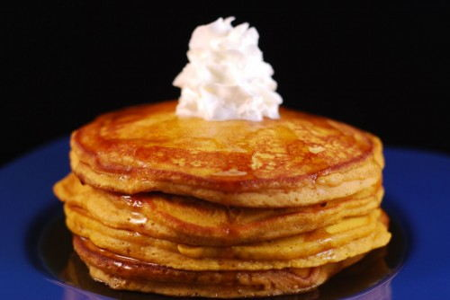A little syrup and whipped cream