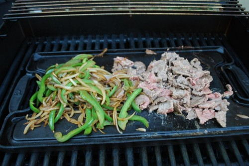 Scrape the meat into smaller pieces