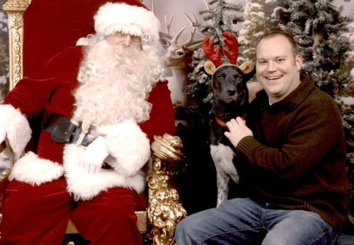 Tucker and Me with Santa.