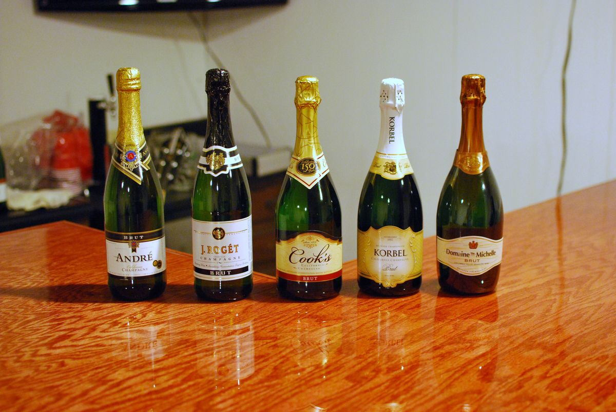 Champagne taste test savoryreviews for Best tasting cheap wine