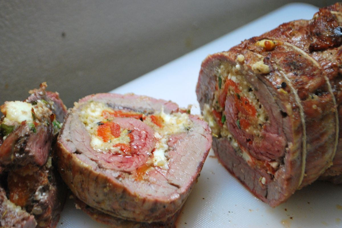 Stuffed Flank Steak - SavoryReviews