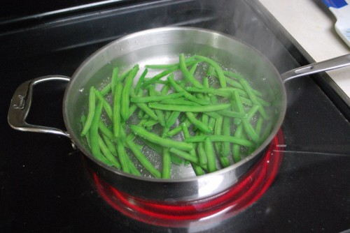 Blanching the Beans