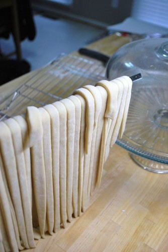 Let the noodles dry for at least 20 minutes before cooking