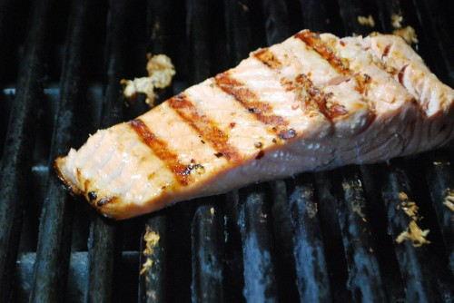 Salmon Skin Side Down