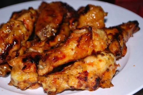 Peach Hot wings