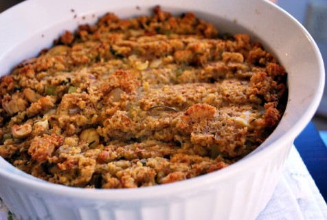 Roasted Chestnut and Cornbread Stuffing