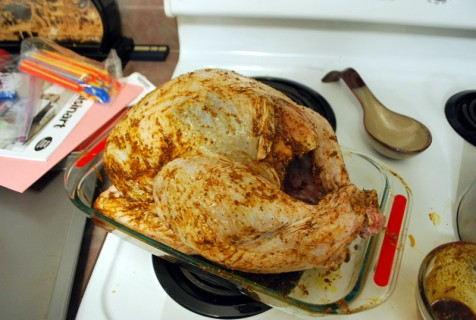 Rub the turkey