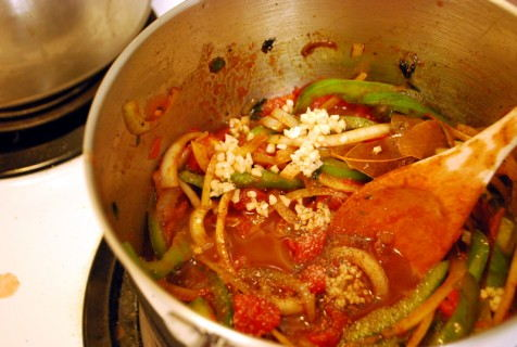 Stew the veggies