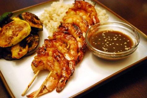 Sake and Honey Glazed Shrimp
