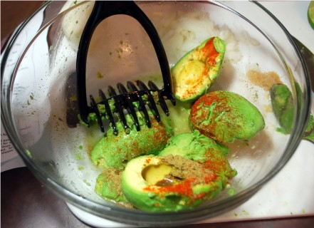 Mash the avocados