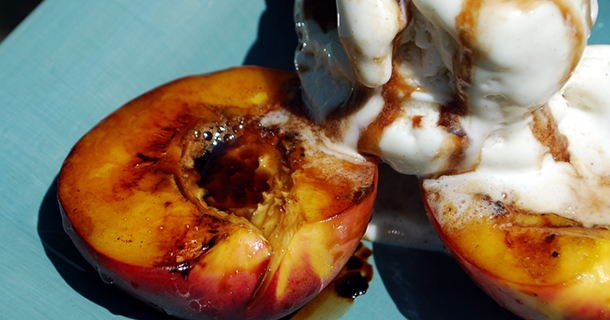 Balsamic and Honey Glazed Nectarines