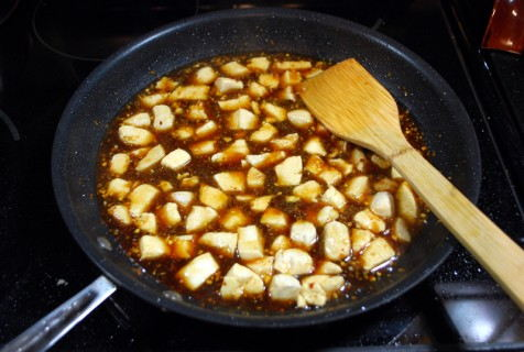 Add the chicken back in to the pan