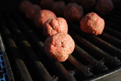 Grill the meatballs