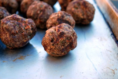 Fully cooked Meatballs