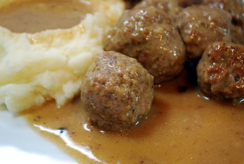 Swedish Meatballs, closeup