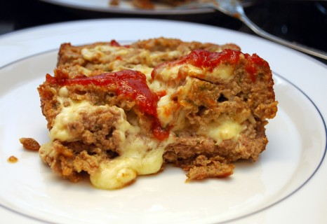Cheesy and gooey meatloaf