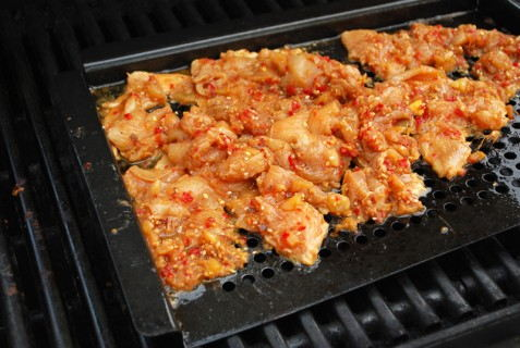Cook the chicken on a grill pan