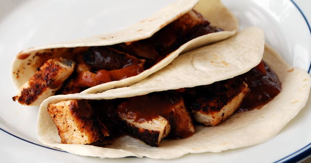 Peppered Chicken Tacos