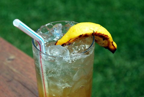 Grilled Vodka Lemonade Spritzer